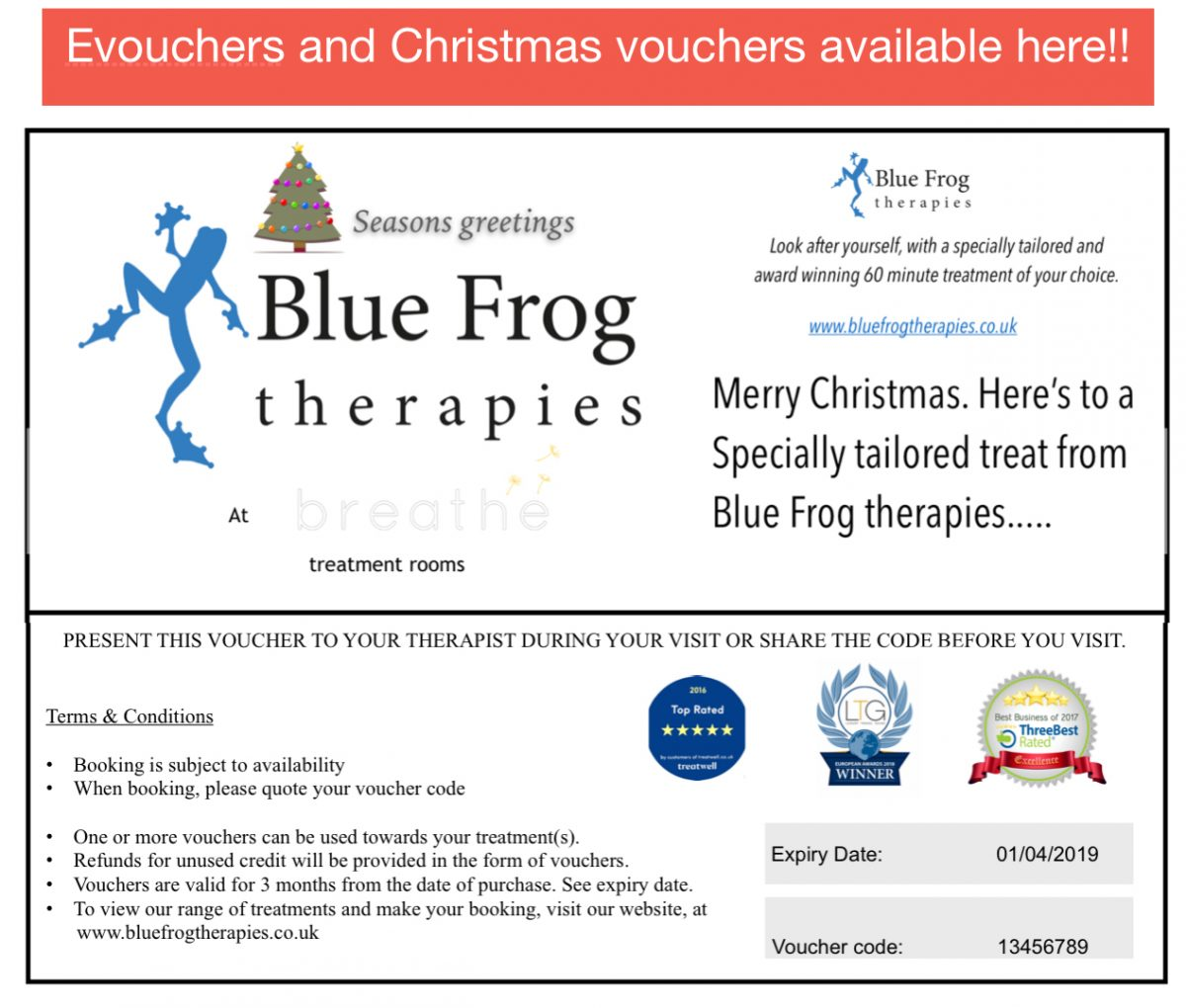 Christmas vouchers available now