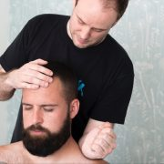 Neck massage with Indian head massage