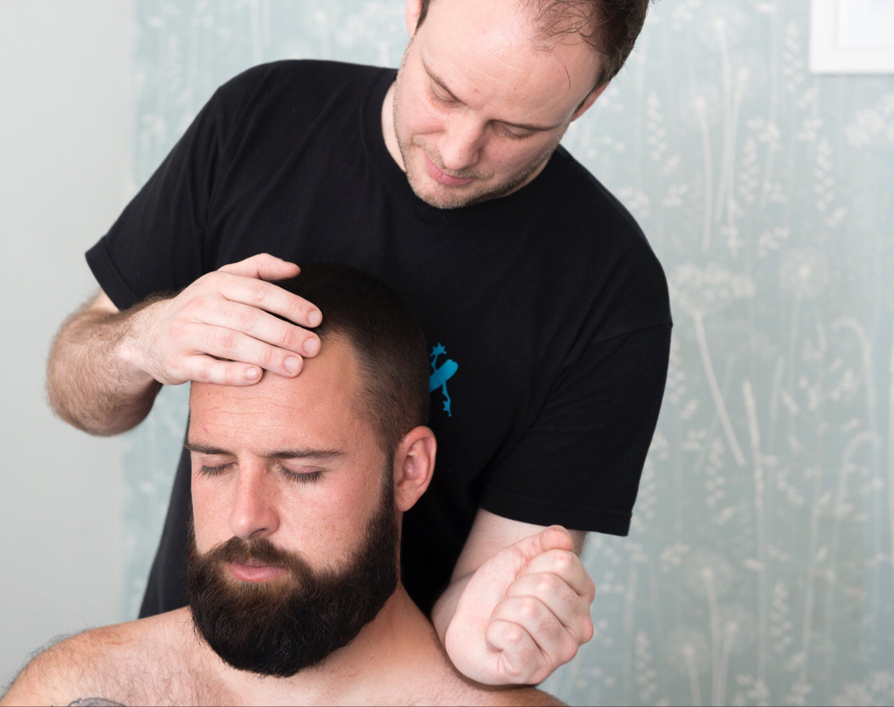 Neck massage for tension relief