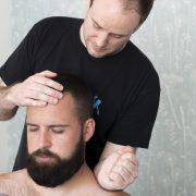 Seated back massage