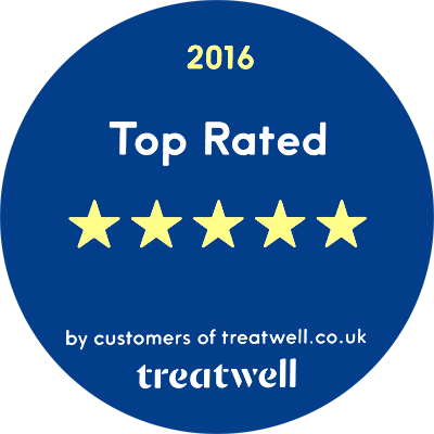 We have been awarded 5 out of 5 stars by therapy behemoth treatwell