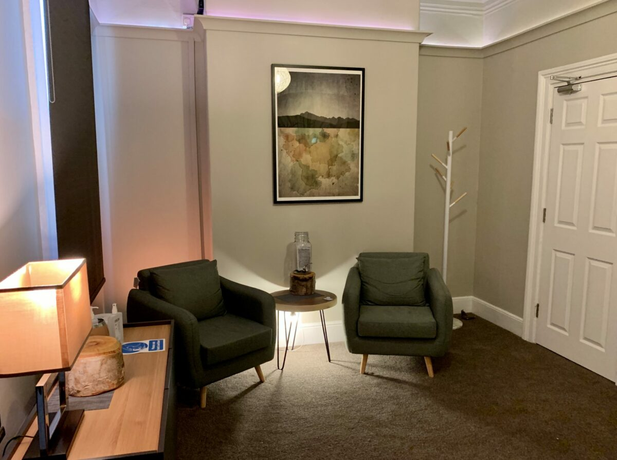 Comfortable and clean Treatment room at Blue Frog Therapy Centre